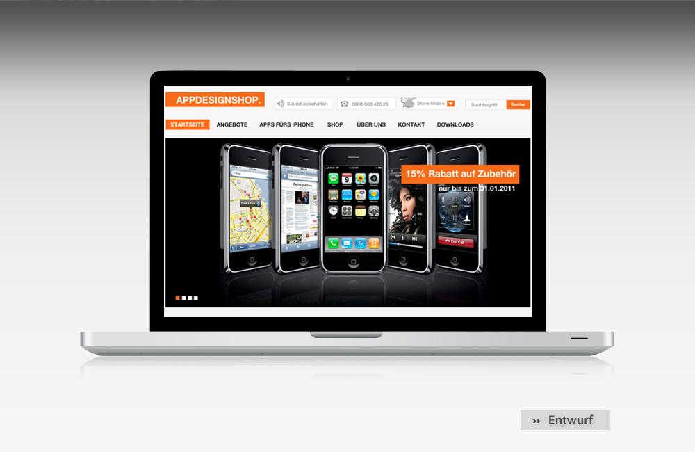 Web design mediendesign for Design artikel shop